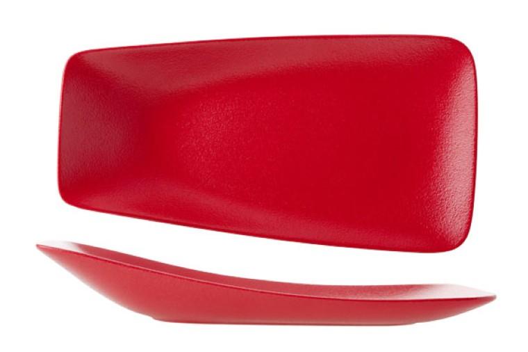 czerwony talerz porcelanowy Ariane Dazzle